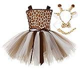 Tutu Dreams Deer Costume for Girls 10-12 Teens Animal Costume Plus Size Birthday Halloween (Giraffe, 9-10 Years)