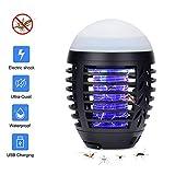 Hisome Anti Moustiques Lampe Camping Lanterne 2 en 1 Lampe Portable LED...