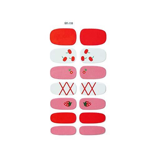 Nail Sticker,Fashion Nail Sticker Multicolor Toe Nail Stickers,Full Wraps Toe Nail Polish Stickers Nail Art Designs Pretty All Summer (E)