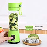 Dashingzone 4 Blades Portable Rechargeable USB Juicer Bottle Blender with Charging Cable (380 ml, Multicolour)