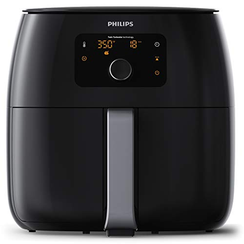 Philips Kitchen Appliances Digital Twin TurboStar Airfryer XXL, with Fat Removal Technology, 3 Lbs, Black,...