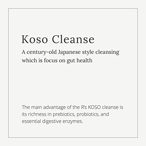 5-Day Cleanse by R's KOSO - Japanese Enzyme Drink Rich in Probiotics and Prebiotic, Made from 100+ Vegetables & Fruits - Natural Support for Better Digestion & Gut Health + Detox + Cleanse - 16oz × 2 7