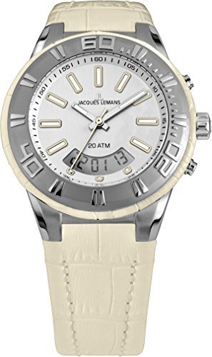 Jacques Lemans Damen Armbanduhr Multi Zifferblatt Quarz Leder 1-1772C