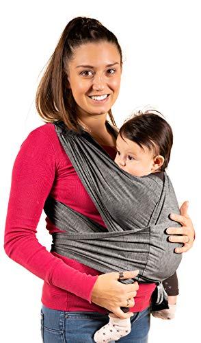 Kalpas| Fascia porta bambino facile da indossare - Taglia unica Unisex - Marsupio neonati multiuso...
