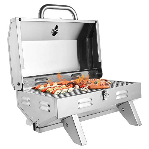 Product Image 2: ROVSUN Portable Propane Gas Grill 12,000BTU, Tabletop Outdoor Cooking Grill for Picnic Camping Tailgating Patio Garden BBQ, <a href=
