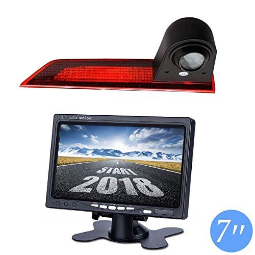 Telecamera per parcheggio retromarcia integrata in 3. Luce freno fotocamera per Ford Transit Custom V362 2012 – 2019 + schermo DVD da 7,0' TFT telecamera di retromarcia camion auto LCD Display
