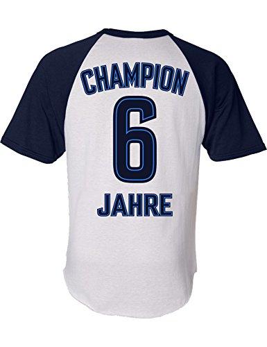 Geburtstags Shirt: Champion 6 Jahre - Sport Fussball Trikot Junge T-Shirt für Jungen - Geschenk-Idee zum 6. Geburtstag - Sechs-TER Jahrgang 2014 - Fußball Club Fan Stadion Mannschaft (128)