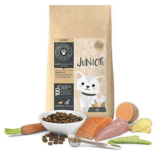 Junior Katzenfutter trocken 400 g | Premium-Qualität | Huhn mit Süßkartoffel...