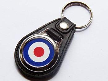 Moody Motorz RAF ROYAL AIR FORCE Military Premium Leather & Chrome Keyring