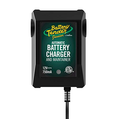 Battery Tender Junior Charger and Maintainer: Automatic 12V Powersports Battery Charger and Maintainer for Motorcycle, ATVs, and More - Smart 12 Volt, 750mA Battery Float Chargers - 021-0123