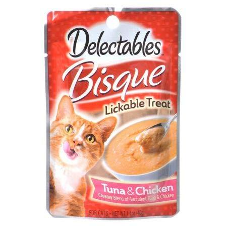Hartz Delectables Bisque Lickable Treat for Cats Tuna Chicken (1.4 oz)