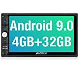 PUMPKIN Android 9.0 Car Stereo Double Din with 4GB, GPS and WiFi, Android Auto, Support Fastboot, Backup Camera, USB SD, 7 Inch Touch Screen