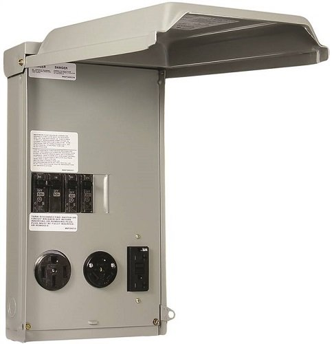 GE RV Panel with 50 Amp and 30 AMP RV Receptacles and a 20 Amp GFCI...