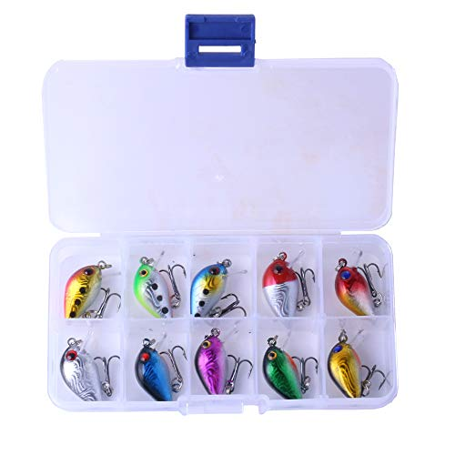 HULEI Esche da Pesca 10PCS Esche da Pesca Mini Rocked Fishing Rock Esca