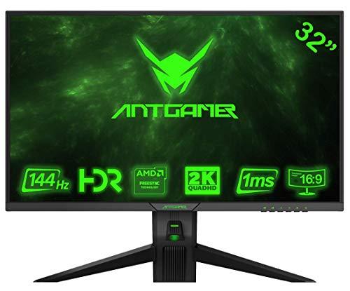 ANTGAMER Gaming M32G5Q 83,82 cm (32 pollici) R1800 Monitor curvo (QHD, tempo di risposta 1ms, HDMI, DVI, DisplayPort, 144 Hz, 2560x1440 pixel, sincronizzazione gratuita) nero