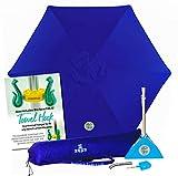 BEACHBUB All-in-One Beach Umbrella System. Includes 7 ½' (50+ UPF) Umbrella, Oversize Bag, Base & Accessory Kit