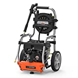YARD FORCE YF3200 3200 Psi Gas Pressure Washer, 2.5 GPM, Roll-Cage Frame, Folding Handle, One Size, Black/Silver/Orange