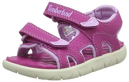 Timberland Perkins Row 2-Strap, sandale junior Descubierta Unisex niños, Rosa (Fuscia Rose), 27 EU