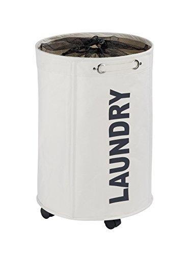 WENKO 62095100 Wäschesammler Rondo-/Wäschekorb Fassungsvermögen: 75 l, 40 x 60 x 40 cm, beige