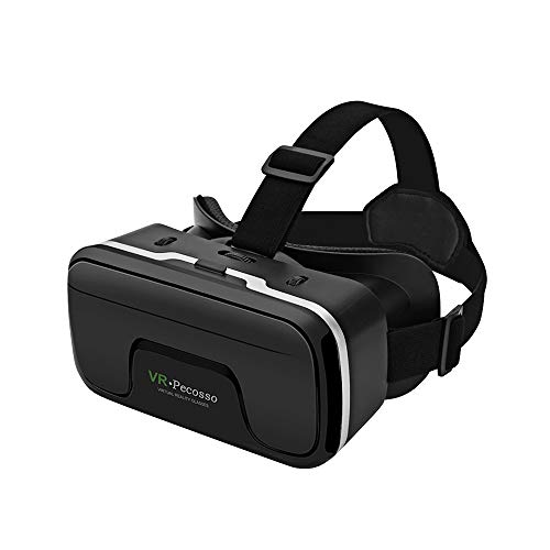 """VR Headset, Pecosso 3D Virtual Reality Glasses Compatible with iPhone & Android Phone New Goggles for Movies Compatible 4.7""""-6.53"""" Soft & Comfortable Adjustable Distance - Gift for Kids and Adults"""