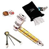 Uniquely Designed Mini Tool Pipe, Mini Grinder kit with 10 Stainless Steel mesh Filters (Yellow)