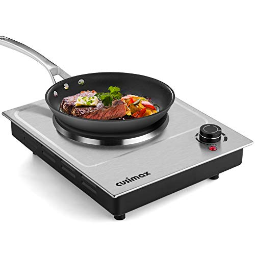 CUSIMAX 1500W Electric Hot Plate, Hot Plate for...