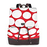 Yuanmeiju Womens Backpack Purse Special White Dots Shoulder Schoolbag Leather Casual Bag Girls