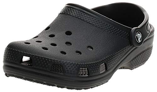 Crocs Classic, Zuecos Unisex Adulto, Negro (Black), 43/44 EU