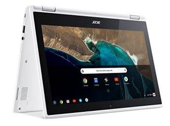 Acer Chromebook R 11 Convertible, 11.6-Inch HD Touch, Intel Celeron N3150, 4GB DDR3L, 32GB, CB5-132T-C1LK, Denim White