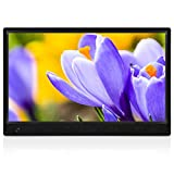 MRQ 14 Inch Full HD Digital Photo Frame Native 1080P High-Resolution IPS Screen, Digital Picture Frame with 180° Viewing Angle, Motion Sensor, Auto-Rotate, Display Photos Via SD, USB