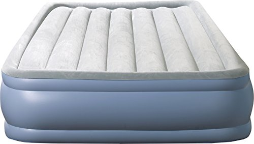 Simmons Beautyrest Hi-Loft Inflatable Air Mattress: Raised-Profile Air Bed with External Pump, Queen