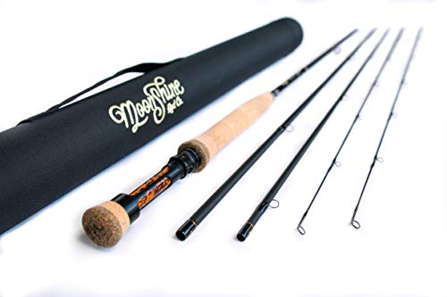 Moonshine Rod Co. The Epiphany Series (Euro/Czech Nymph Style) Fly Fishing Rod 3wt 10'6' Blackout