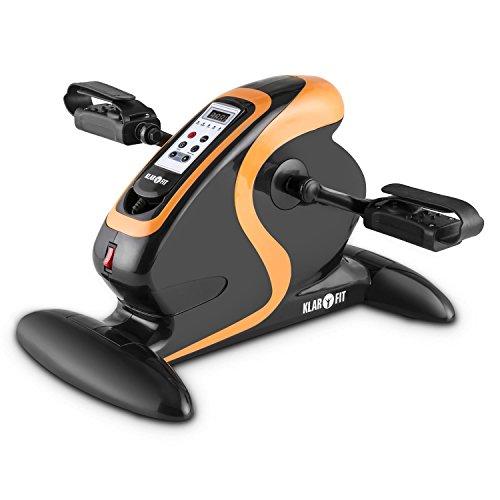 Klarfit Cycloony Minifahrrad für Beine und Arme - Mini-Bike, Pedaltrainer für Muskelaufbau, Heimtrainer, 70 W, 12 Geschwindigkeitsstufen, Trainingscomputer, Vor- oder Rückwärtslauf, schwarz