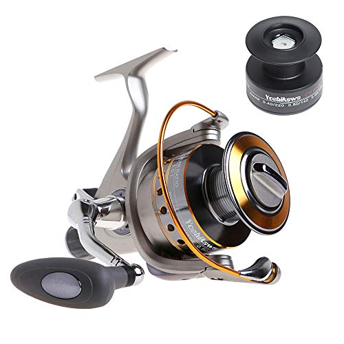 Yoshikawa Baitfeeder Spinning Reel 3000 Bass Fishing Reel 5.1:1 11 Stainless Ball Bearings Ultra...