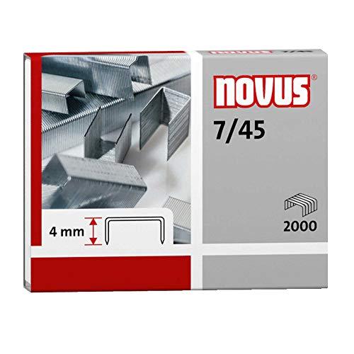 Novus - Punti per cucitrice NOVUS 7/45, in acciaio, zincati