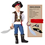 Spooktacular Creations Boys Pirate Costume for Kids Deluxe Costume Set (Toddler 3-4)