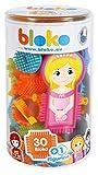BLOKO - 503573 - Tube de 30 BLOKO et 1 figurine offerte - Jouet de construction - Dès 12 mois