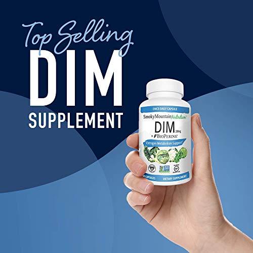 DIM Supplement 200mg - DIM Diindolylmethane Plus BioPerine 60-Day Supply of DIM for Estrogen Balance, Hormone Menopause Relief, Acne Treatment, PCOS, Bodybuilding 4