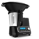 Moulinex ClickChef HF4SPR30 - Robot de cocina multifuncin 3.6 l (Recetario en Castellano, 5 programas Auto, temperatura de 30 a 120 C, 12 velocidades, 1400 W, 32 funciones, bscula, vaporera) Negro