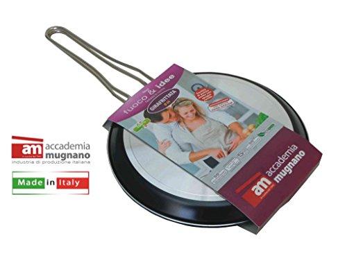 Accademia Mugnano Fuoco & Idee Wendepfanne, 24cm, aus Aluminium, antihaftbeschichtet mit ergonomischen Griffen, FIGRF24