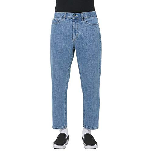 OBEY Jeans Denim Bender 90's Classic Fit alla Caviglia - Il Jeans Che valorizza la Scarpa Bassa e evidenzia l'originalita' del calzino (Light Indigo, 34)