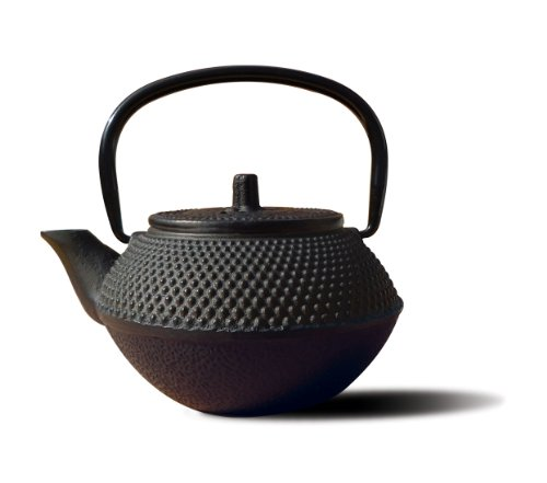 Old Dutch Cast Iron Saga Teapot, 52-Ounce, Black