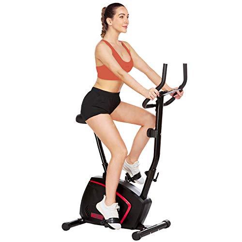 ANCHEER Klappbar Heimtrainer Fahrrad mit APP & Magnetische Schwungscheibe, Leichtgängig und Leise, Komfortables Hometrainer, Fitnessbike, Indoor Cycling Bike, Riemenantrieb