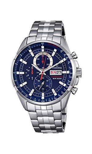 Festina Herren Chronograph Quarz Uhr mit Edelstahl Armband F6844/3