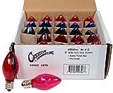 Creative Hobbies Box of 25 Colored Light Bulbs, Random Blinking, 7 Watt, C7 Candelabra Base -Great for Night Lights and Christmas Strings