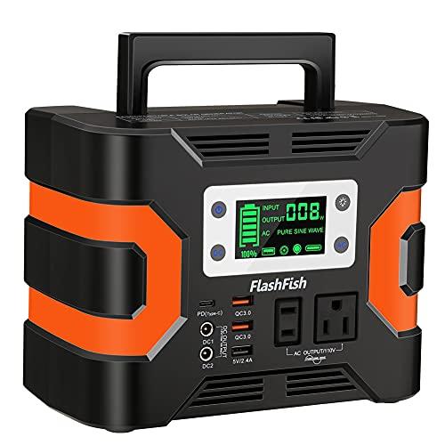 FlashFish ポータブル電源 大容量 81000mAh/300Wh AC(330W 瞬間最大380W) DC(168W) 家庭用蓄電池 タッチボ...