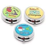 MovilCom® Pastillero diario de bolsillo organizador 3 compartimentos,...