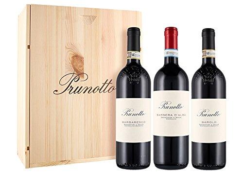 Cassetta da 3 bottiglie: Barolo, Barbaresco e Barbera d'Alba Prunotto Marchesi Antinori