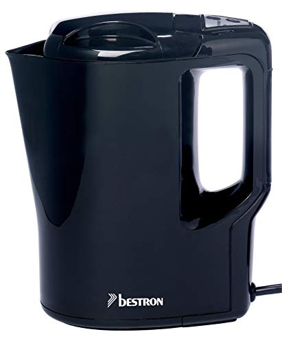 Bestron AWK810 Hervidores de Agua, 500 W, 0.9 litros, Acero Inoxidable, Negro