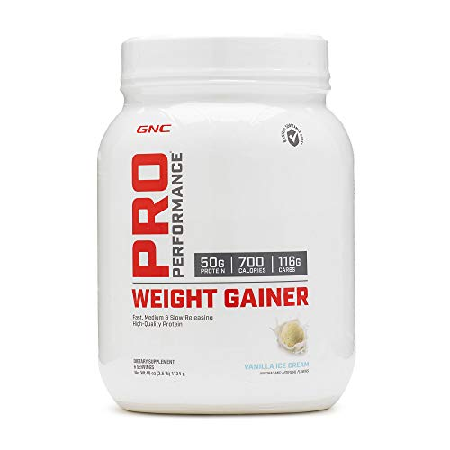 GNC Pro Performance Weight Gainer - Vanilla Ice Cream, 6 Servings, High-Quality Protein to Increase Mass